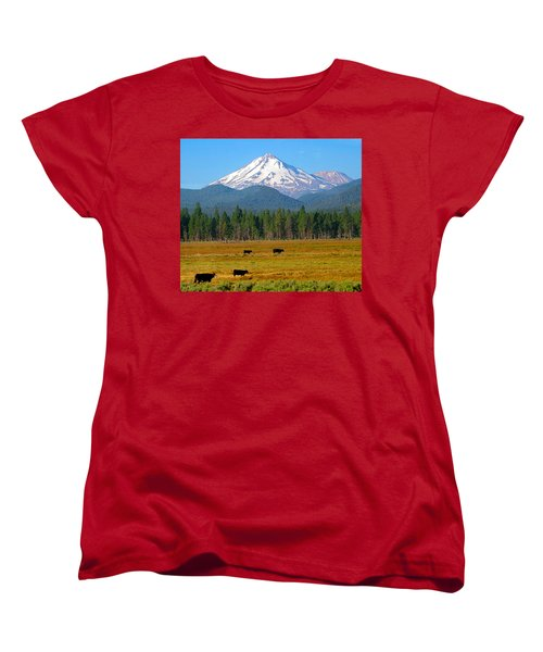 Mt. Shasta Morning Women's T-Shirt (Standard Cut) by Betty Buller Whitehead