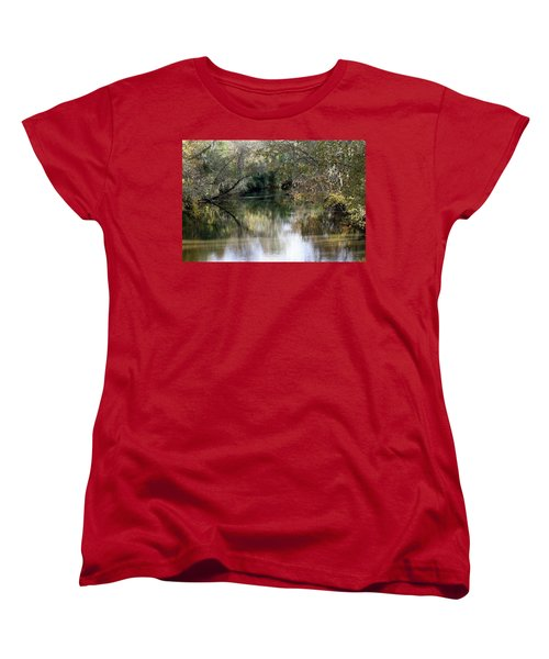Women's T-Shirt (Standard Cut) featuring the photograph Muckalee Creek by Jerry Battle