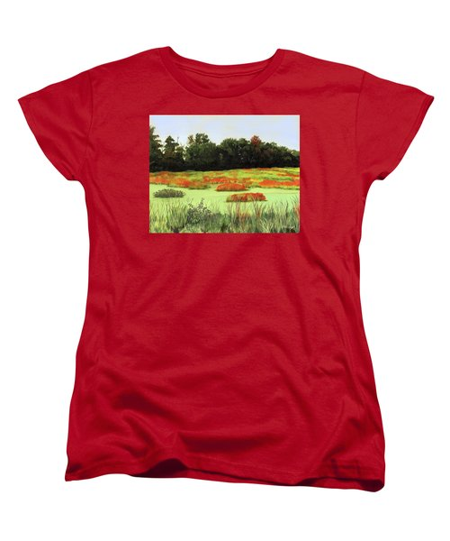 Mud Lake Marsh Women's T-Shirt (Standard Cut) by Lynne Reichhart