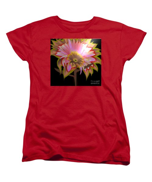 Multi Color Daisy Women's T-Shirt (Standard Cut) by Belinda Threeths