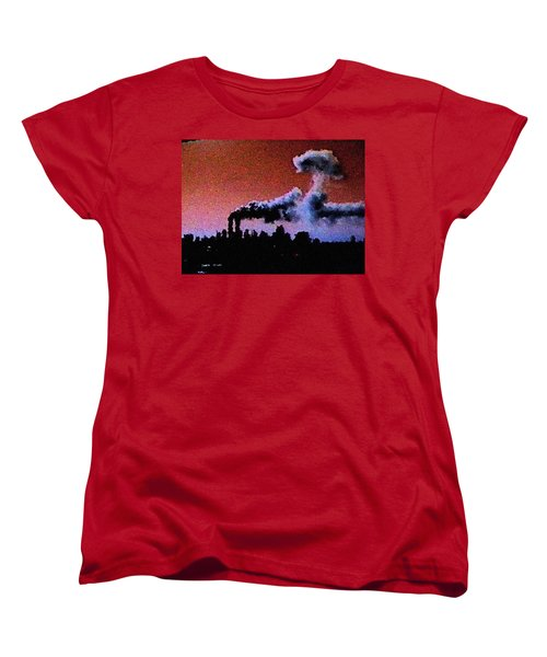 Women's T-Shirt (Standard Cut) featuring the digital art Mushroom Cloud From Flight 175 by James Kosior
