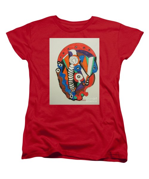 Mushroom Powered Engine 01 - Bellingham - Lewisham, Women's T-Shirt (Standard Cut) by Mudiama Kammoh