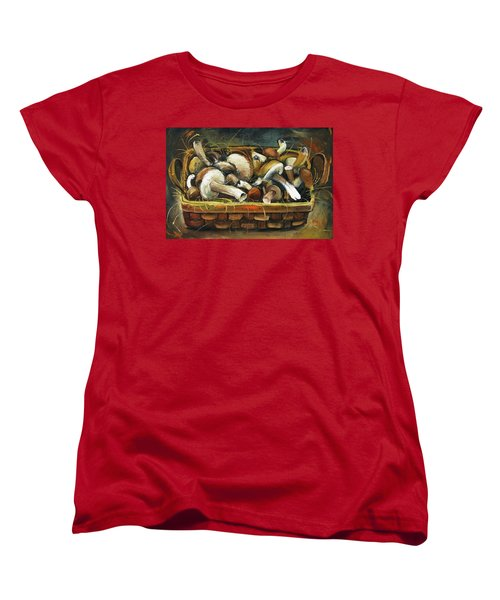Mushrooms Women's T-Shirt (Standard Cut) by Mikhail Zarovny