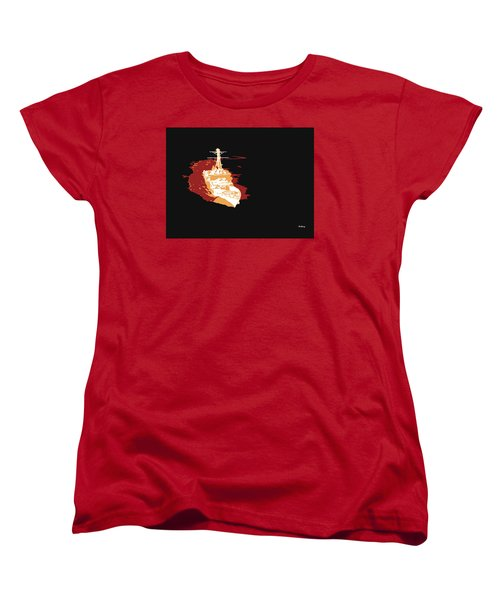 Women's T-Shirt (Standard Cut) featuring the digital art Music Notes 11 by David Bridburg