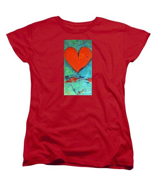 Musical Heart Women's T-Shirt (Standard Cut) by Diana Bursztein