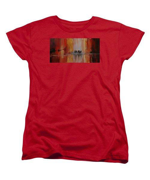 Mustang Canyon Women's T-Shirt (Standard Cut) by Karen Kennedy Chatham