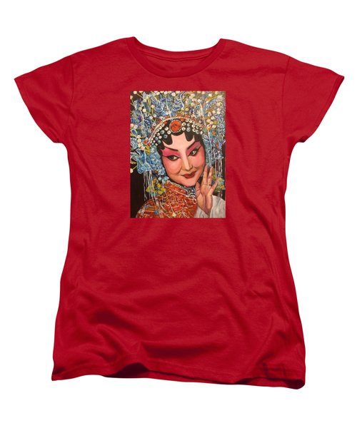 Women's T-Shirt (Standard Cut) featuring the painting My Fair Lady by Belinda Low