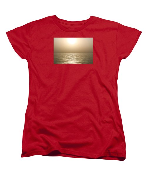 Women's T-Shirt (Standard Cut) featuring the photograph Mystery Sandstorm Sunset- The Red Sea by Glenn Feron