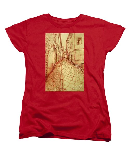 Narrow Street Of Lovere Italy Women's T-Shirt (Standard Cut)