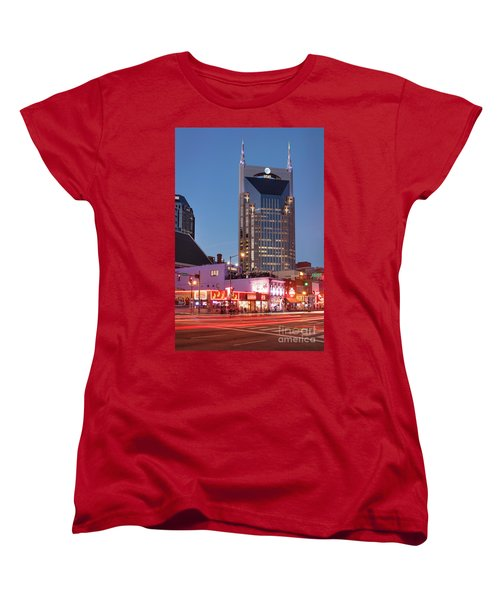 Women's T-Shirt (Standard Cut) featuring the photograph Nashville - Batman Building by Brian Jannsen