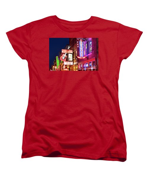 Women's T-Shirt (Standard Cut) featuring the photograph Nashville Signs by Brian Jannsen