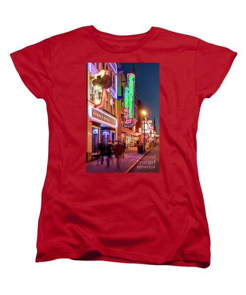 Women's T-Shirt (Standard Cut) featuring the photograph Nashville Signs II by Brian Jannsen
