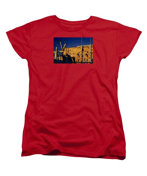Women's T-Shirt (Standard Cut) featuring the digital art National Warehouse Corp by David Blank