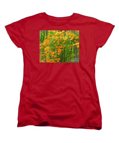 Natural Wild Azaleas  Women's T-Shirt (Standard Cut) by Rand Herron