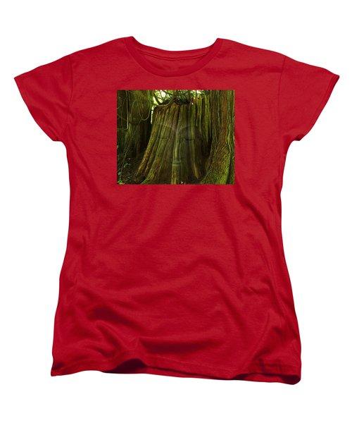 Nature Buddha Women's T-Shirt (Standard Cut) by I'ina Van Lawick
