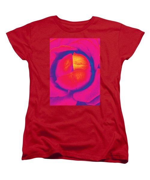 Neon Lettuce Rose Women's T-Shirt (Standard Cut)
