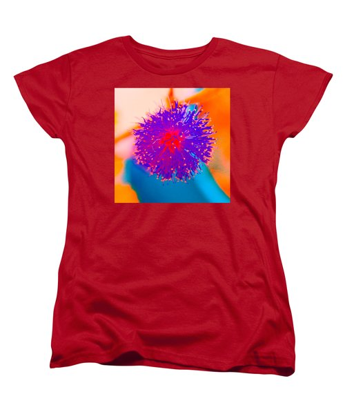 Neon Pink Puff Explosion Women's T-Shirt (Standard Cut) by Samantha Thome