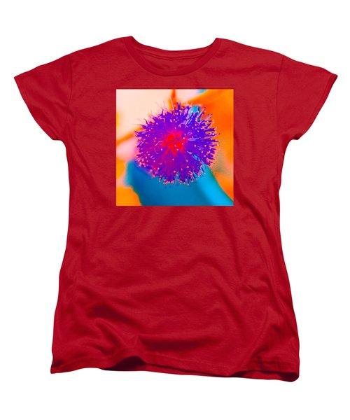 Neon Pink Puff Explosion Women's T-Shirt (Standard Cut)