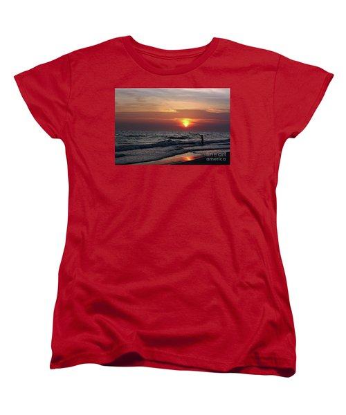 Women's T-Shirt (Standard Cut) featuring the photograph Net Casting by Terri Mills