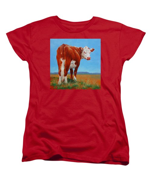 Women's T-Shirt (Standard Cut) featuring the painting New Horizons Undecided by Margaret Stockdale