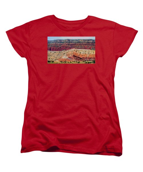 New Mexico Hillside Women's T-Shirt (Standard Cut) by Gina Savage