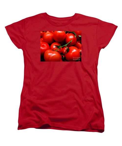 Nice Tomatoes Baby Women's T-Shirt (Standard Cut) by RC DeWinter