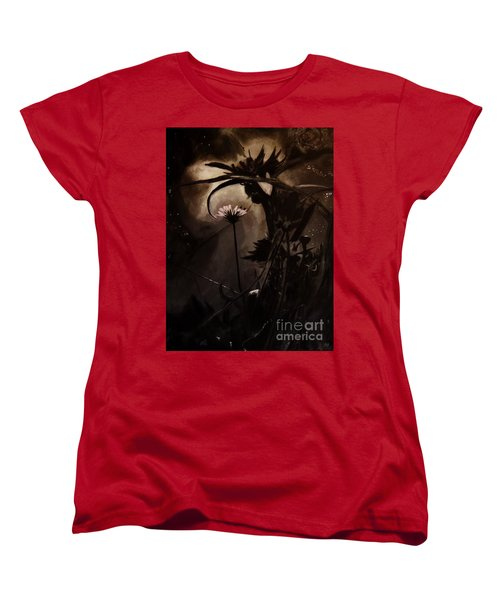 Women's T-Shirt (Standard Cut) featuring the painting Nightflower by Vanessa Palomino