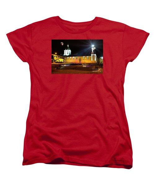 Nighttime At San Sebastian Women's T-Shirt (Standard Cut) by Al Bourassa