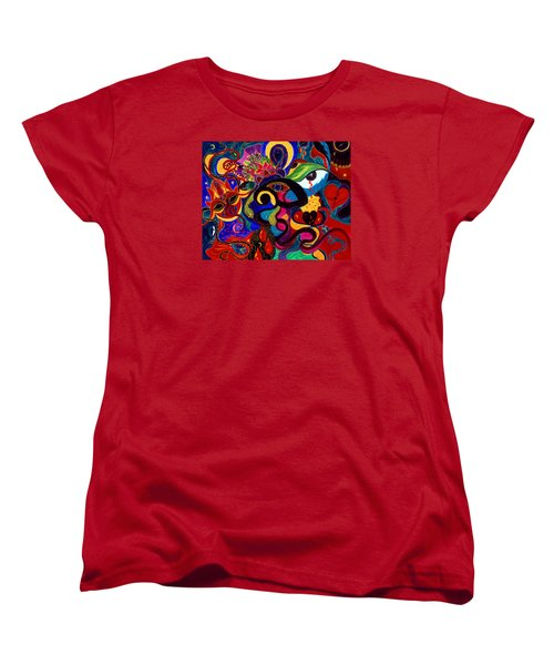 Women's T-Shirt (Standard Cut) featuring the painting Tears Of Blood by Marina Petro