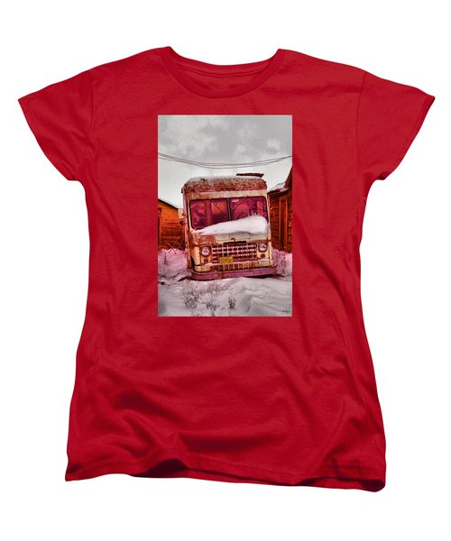 Women's T-Shirt (Standard Cut) featuring the photograph No More Deliveries by Jeff Swan
