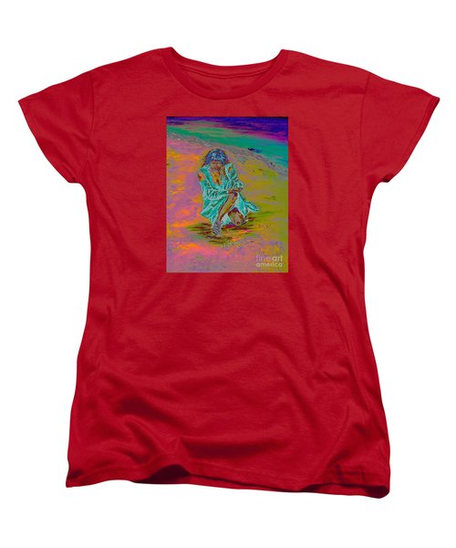Women's T-Shirt (Standard Cut) featuring the painting No Surrender by Loredana Messina
