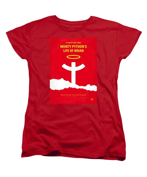 No182 My Monty Python Life Of Brian Minimal Movie Poster Women's T-Shirt (Standard Cut) by Chungkong Art