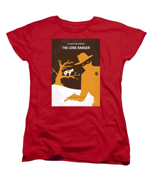 No202 My The Lone Ranger Minimal Movie Poster Women's T-Shirt (Standard Cut) by Chungkong Art