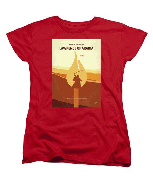 Women's T-Shirt (Standard Cut) featuring the digital art No772 My Lawrence Of Arabia Minimal Movie Poster by Chungkong Art