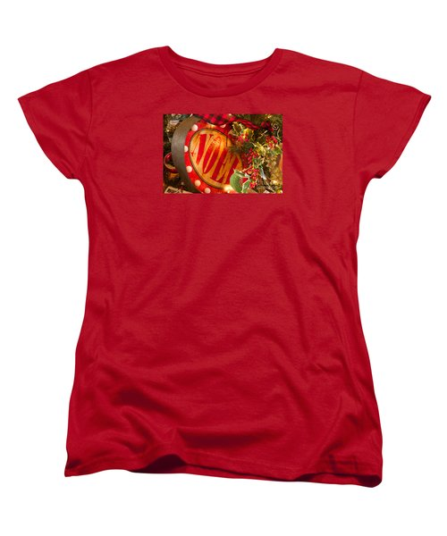Noel Sign Women's T-Shirt (Standard Cut) by Vinnie Oakes