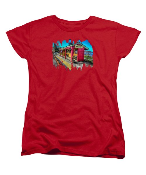Norm Laknes Train Station Women's T-Shirt (Standard Cut) by Thom Zehrfeld