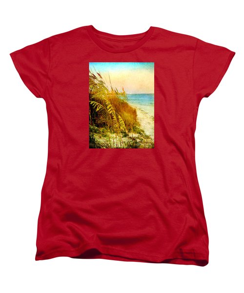 Women's T-Shirt (Standard Cut) featuring the digital art North Of River by Linda Olsen