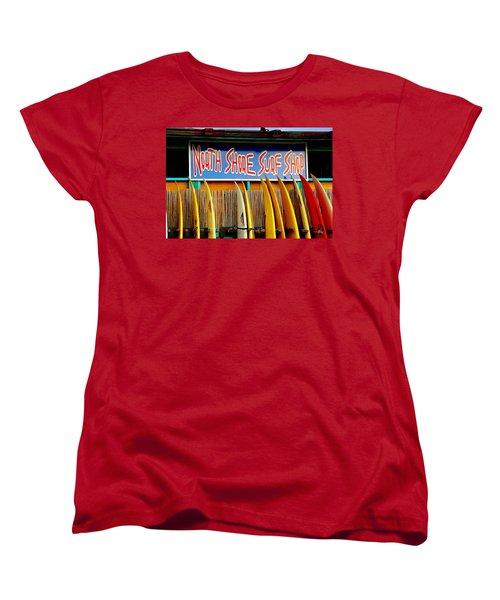 North Shore Surf Shop 2 Women's T-Shirt (Standard Cut) by Jim Albritton