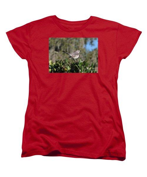 Northern Mockingbird Women's T-Shirt (Standard Cut) by Carol Groenen
