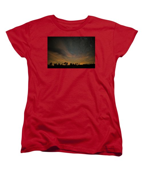 Northern Sky At Night Women's T-Shirt (Standard Cut) by Phil Abrams