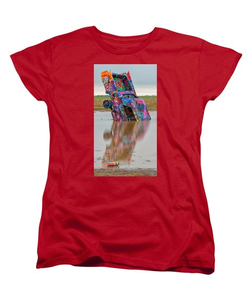 Women's T-Shirt (Standard Cut) featuring the photograph Nose Dive by Stephen Stookey