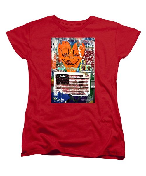 Women's T-Shirt (Standard Cut) featuring the photograph Not My President by John Rizzuto