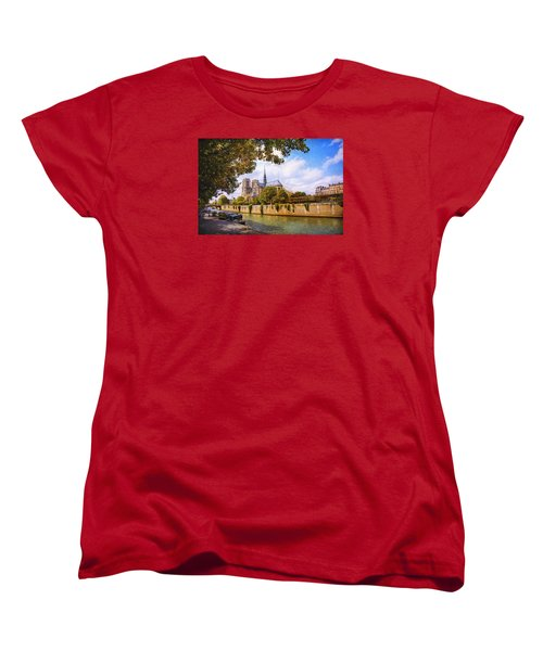 Women's T-Shirt (Standard Cut) featuring the photograph Notre Dame by John Rivera