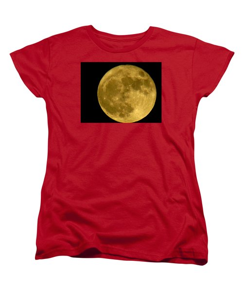 Women's T-Shirt (Standard Cut) featuring the photograph November Full Moon by Eric Switzer