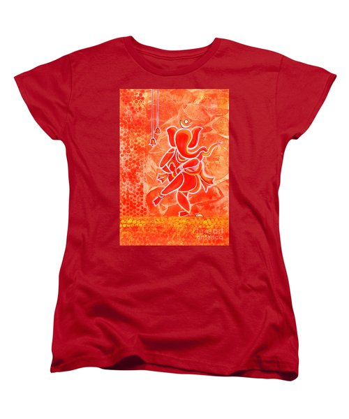 Nritya Ganesha- Dancing God Women's T-Shirt (Standard Cut)