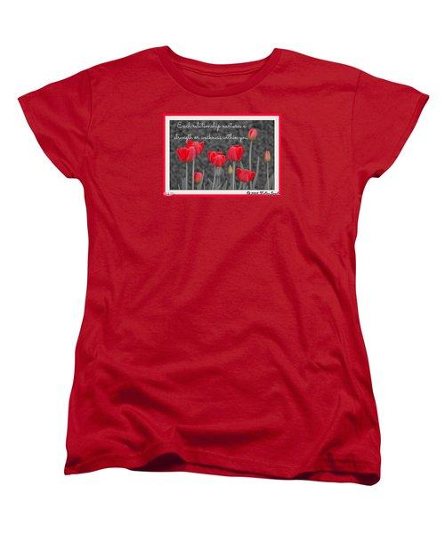 Nurtures Strength Women's T-Shirt (Standard Cut) by Holley Jacobs