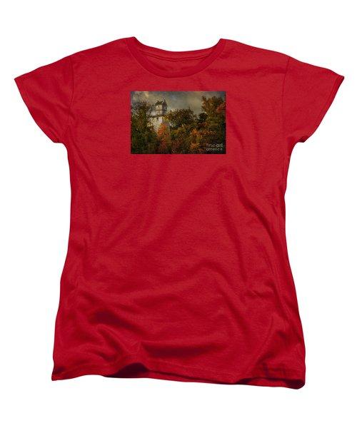 Oakhurst Water Tower Women's T-Shirt (Standard Cut) by Debra Fedchin