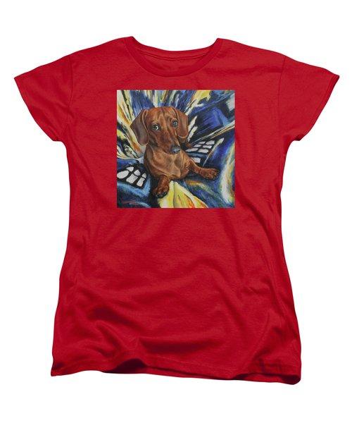 Obi Women's T-Shirt (Standard Cut) by Kim Lockman
