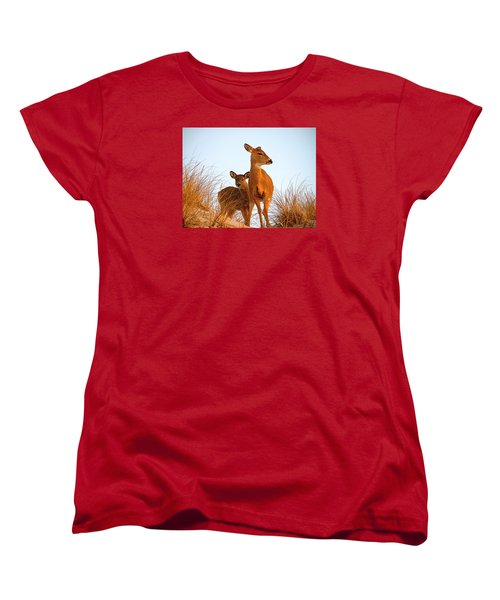 Ocean Deer Women's T-Shirt (Standard Cut) by  Newwwman