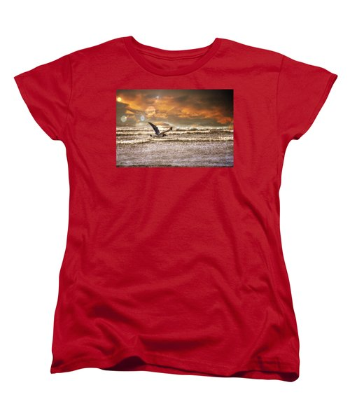 Ocean Women's T-Shirt (Standard Cut) featuring the photograph Ocean Flight by Aaron Berg